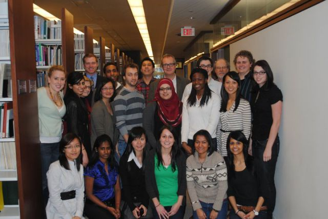 Class of 2011 with Dr. Vallance and Eva and Denis