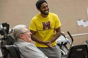 Senior person from the community, at the McMaster Physical Activity Centre of Excellence (PACE)